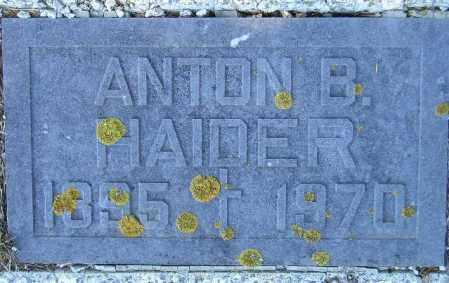 HAIDER, ANTON B. - Codington County, South Dakota   ANTON B. HAIDER - South Dakota Gravestone Photos