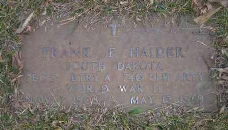 HAIDER, FRANK F. (WW II) - Codington County, South Dakota | FRANK F. (WW II) HAIDER - South Dakota Gravestone Photos