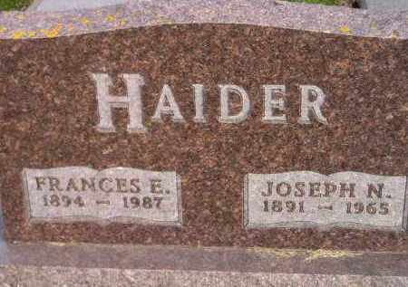 HAIDER, JOSEPH N. - Codington County, South Dakota | JOSEPH N. HAIDER - South Dakota Gravestone Photos