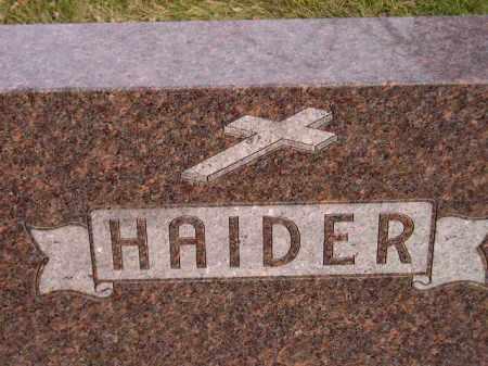 HAIDER, FAMILY STONE - Codington County, South Dakota | FAMILY STONE HAIDER - South Dakota Gravestone Photos