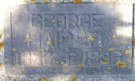 HAIDER, GEORGE SR. - Codington County, South Dakota | GEORGE SR. HAIDER - South Dakota Gravestone Photos