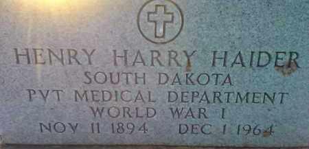 HAIDER, HENRY HARRY MILITARY - Codington County, South Dakota | HENRY HARRY MILITARY HAIDER - South Dakota Gravestone Photos