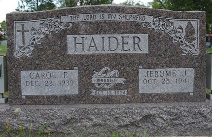 HAIDER, CAROL F. - Codington County, South Dakota | CAROL F. HAIDER - South Dakota Gravestone Photos