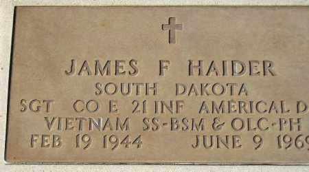 HAIDER, JAMES F. (MILITARY) - Codington County, South Dakota | JAMES F. (MILITARY) HAIDER - South Dakota Gravestone Photos