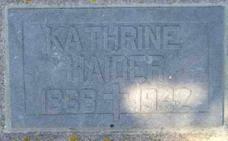 HAIDER, KATHRINE - Codington County, South Dakota   KATHRINE HAIDER - South Dakota Gravestone Photos