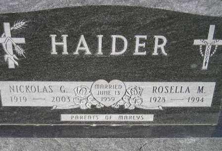 KORBEL HAIDER, ROSELLA M. - Codington County, South Dakota | ROSELLA M. KORBEL HAIDER - South Dakota Gravestone Photos