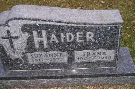 HAIDER, SUZANNE - Codington County, South Dakota | SUZANNE HAIDER - South Dakota Gravestone Photos