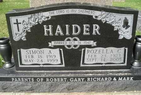 HAIDER, SIMON A. - Codington County, South Dakota | SIMON A. HAIDER - South Dakota Gravestone Photos