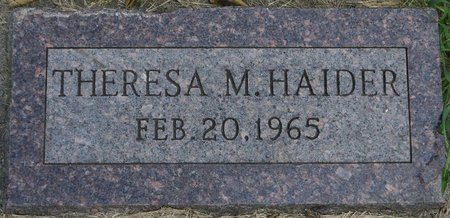 HAIDER, THERESA M. - Codington County, South Dakota   THERESA M. HAIDER - South Dakota Gravestone Photos