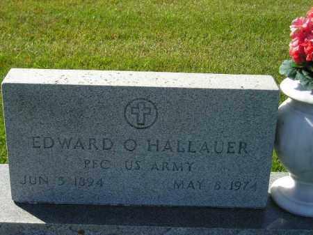 HALLAUER, EDWARD O. - Codington County, South Dakota | EDWARD O. HALLAUER - South Dakota Gravestone Photos