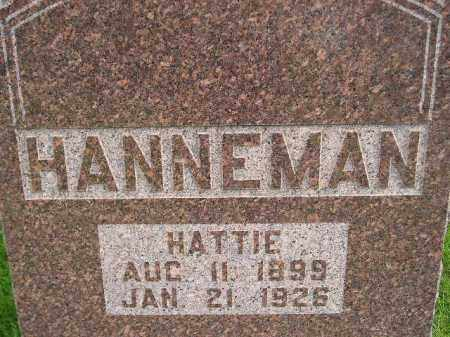 HANNEMAN, HATTIE - Codington County, South Dakota | HATTIE HANNEMAN - South Dakota Gravestone Photos