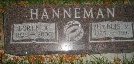 HANNEMAN, PHYLLIS M. - Codington County, South Dakota | PHYLLIS M. HANNEMAN - South Dakota Gravestone Photos