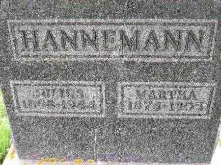 HANNEMANN, JULIUS - Codington County, South Dakota | JULIUS HANNEMANN - South Dakota Gravestone Photos