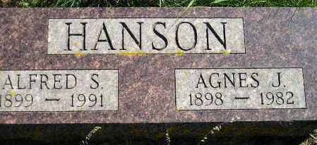 HANSON, AGNES J. - Codington County, South Dakota | AGNES J. HANSON - South Dakota Gravestone Photos