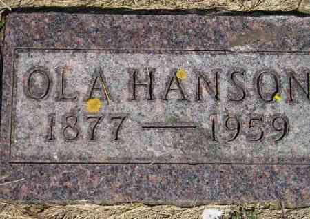 HANSON, OLA - Codington County, South Dakota | OLA HANSON - South Dakota Gravestone Photos