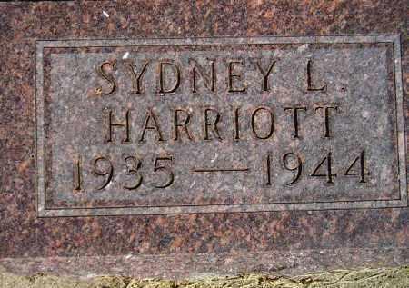 HARRIOTT, SYDNEY L. - Codington County, South Dakota   SYDNEY L. HARRIOTT - South Dakota Gravestone Photos