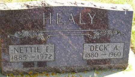 "HEALY, JOHN ""DECK"" - Codington County, South Dakota | JOHN ""DECK"" HEALY - South Dakota Gravestone Photos"