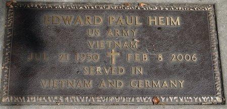 HEIM (MILITARY), EDWARD PAUL - Codington County, South Dakota | EDWARD PAUL HEIM (MILITARY) - South Dakota Gravestone Photos