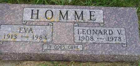 HOMME, EVA - Codington County, South Dakota | EVA HOMME - South Dakota Gravestone Photos