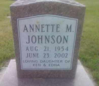 JOHNSON, ANNETTE M - Codington County, South Dakota | ANNETTE M JOHNSON - South Dakota Gravestone Photos