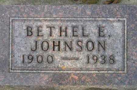 JOHNSON, BETHEL E. - Codington County, South Dakota | BETHEL E. JOHNSON - South Dakota Gravestone Photos