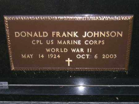 JOHNSON, DONALD FRANK (WW II) - Codington County, South Dakota | DONALD FRANK (WW II) JOHNSON - South Dakota Gravestone Photos
