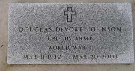 JOHNSON, DOUGLAS DEVORE (WW II) - Codington County, South Dakota | DOUGLAS DEVORE (WW II) JOHNSON - South Dakota Gravestone Photos