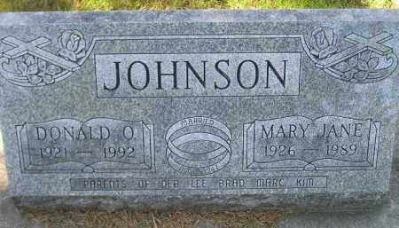 JOHNSON, DONALD O. - Codington County, South Dakota | DONALD O. JOHNSON - South Dakota Gravestone Photos