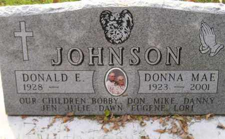 JOHNSON, DONALD E. - Codington County, South Dakota | DONALD E. JOHNSON - South Dakota Gravestone Photos