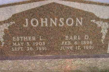JOHNSON, EARL D. - Codington County, South Dakota | EARL D. JOHNSON - South Dakota Gravestone Photos