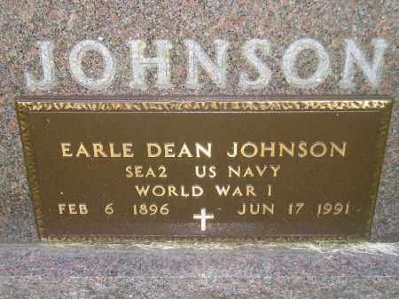 JOHNSON, EARLE DEAN (WW I) - Codington County, South Dakota | EARLE DEAN (WW I) JOHNSON - South Dakota Gravestone Photos