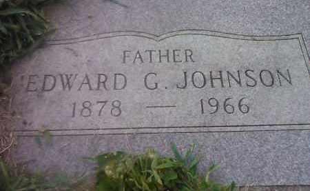 JOHNSON, EDWARD G - Codington County, South Dakota   EDWARD G JOHNSON - South Dakota Gravestone Photos