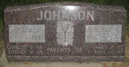 JOHNSON, MARTHA R. - Codington County, South Dakota | MARTHA R. JOHNSON - South Dakota Gravestone Photos