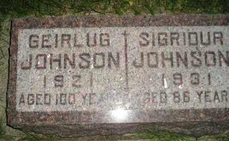 JOHNSON, GEIRLUG - Codington County, South Dakota | GEIRLUG JOHNSON - South Dakota Gravestone Photos