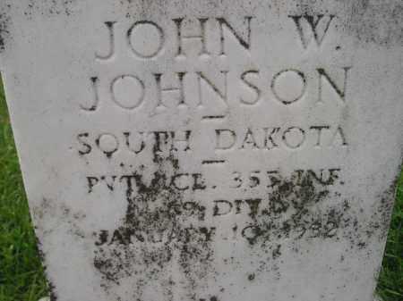 JOHNSON, JOHN W. - Codington County, South Dakota | JOHN W. JOHNSON - South Dakota Gravestone Photos