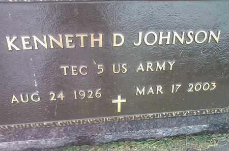 JOHNSON, KENNETH D - Codington County, South Dakota   KENNETH D JOHNSON - South Dakota Gravestone Photos