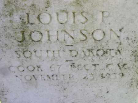 JOHNSON, LOUIS P. - Codington County, South Dakota | LOUIS P. JOHNSON - South Dakota Gravestone Photos