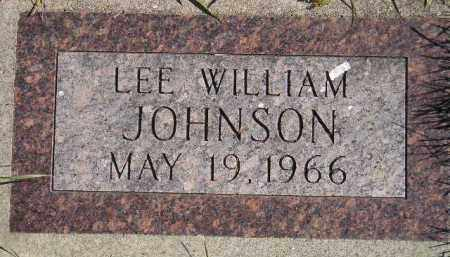 JOHNSON, LEE WILLIAM - Codington County, South Dakota | LEE WILLIAM JOHNSON - South Dakota Gravestone Photos
