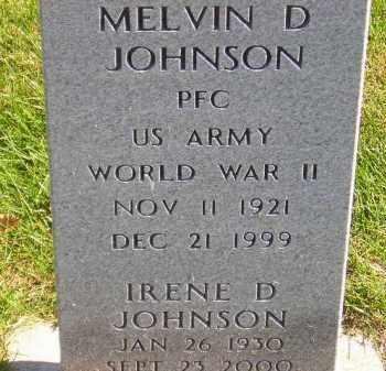 JOHNSON, MELVIN D. - Codington County, South Dakota   MELVIN D. JOHNSON - South Dakota Gravestone Photos