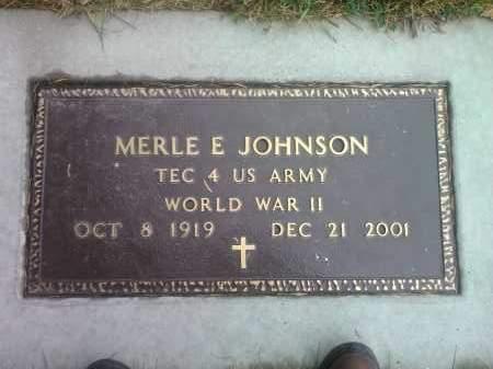 JOHNSON, MERLE E.  US ÄRMY - Codington County, South Dakota | MERLE E.  US ÄRMY JOHNSON - South Dakota Gravestone Photos