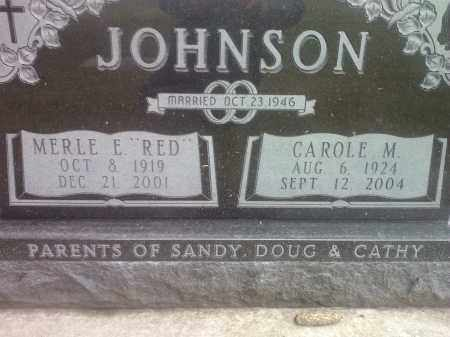 JOHNSON, CAROLE M. - Codington County, South Dakota | CAROLE M. JOHNSON - South Dakota Gravestone Photos