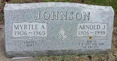 JOHNSON, MYRTLE A - Codington County, South Dakota | MYRTLE A JOHNSON - South Dakota Gravestone Photos