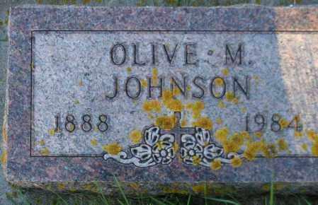 JOHNSON, OLIVE M. - Codington County, South Dakota | OLIVE M. JOHNSON - South Dakota Gravestone Photos