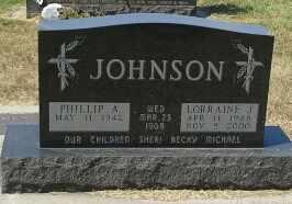 JOHNSON, LORRAINE J - Codington County, South Dakota   LORRAINE J JOHNSON - South Dakota Gravestone Photos