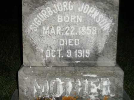 JOHNSON, SIGURBJORG - Codington County, South Dakota | SIGURBJORG JOHNSON - South Dakota Gravestone Photos