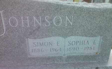 JOHNSON, SOPHIA E - Codington County, South Dakota | SOPHIA E JOHNSON - South Dakota Gravestone Photos
