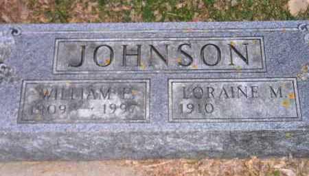 JOHNSON, WILLIAM E. - Codington County, South Dakota | WILLIAM E. JOHNSON - South Dakota Gravestone Photos