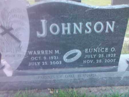 JOHNSON, EUNICE O - Codington County, South Dakota | EUNICE O JOHNSON - South Dakota Gravestone Photos