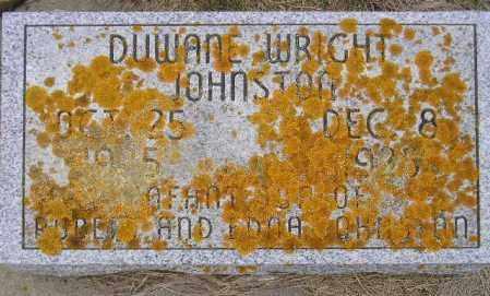 JOHNSTON, DUWANE WRIGHT - Codington County, South Dakota | DUWANE WRIGHT JOHNSTON - South Dakota Gravestone Photos
