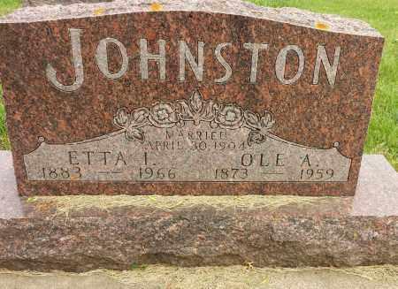 JOHNSTON, ETTA I - Codington County, South Dakota   ETTA I JOHNSTON - South Dakota Gravestone Photos